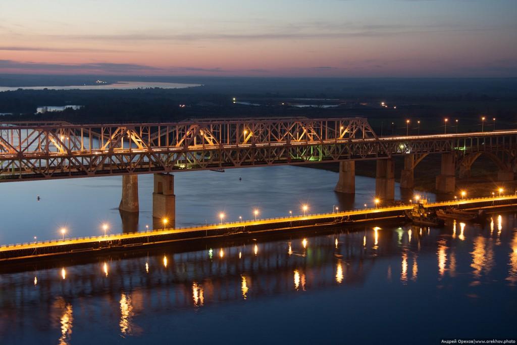 Борский мост через Волгу