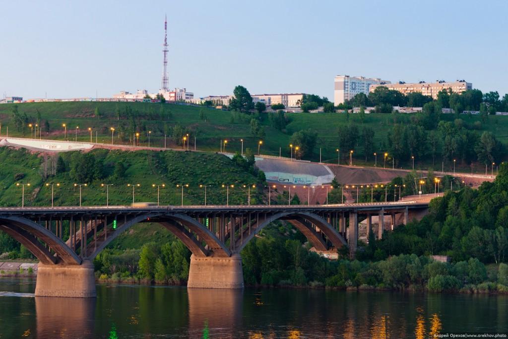 Молитовский мост через Оку в Нижнем Новгороде