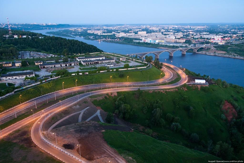 Окский съезд в нижнюю часть Нижнего Новгорода