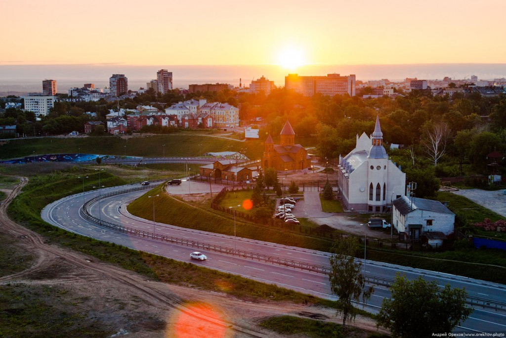 Съезд к метромосту в Нижнем Новгороде