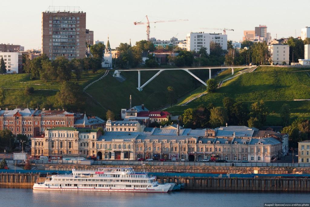 Нижневолжская набережная в Нижнем Новгороде