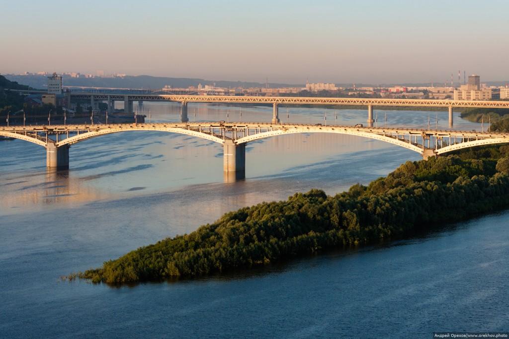 Все мосты Нижнего Новгорода на одном кадре