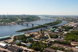 Собор Александра Невского, Канавински мост и метромост в Нижем Новгороде