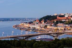 Канавинский мост и историческая часть Нижнего Новгорода